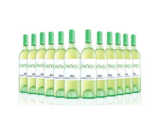 Ricote Blanco Rioja. Vino amarillo claro con matices verdes, con aromas cítricos,
