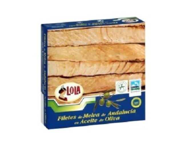 Melva. Filetes de Melva y otras conservas de pescado y marisco