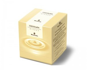 Chocolate en sobre blanco. Caja de 40 sobres