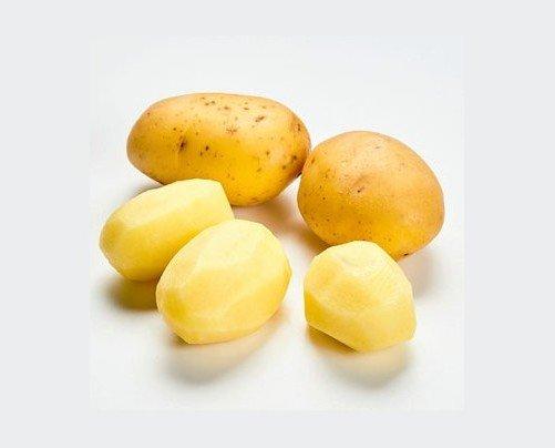 Patata Entera Pelada. Patata 100% fresca