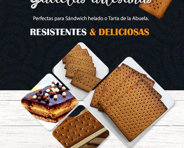 Galletas de Cortesía.Deliciosas y resistentes galletas de pueblo para sándwich helado y tarta de la abuela