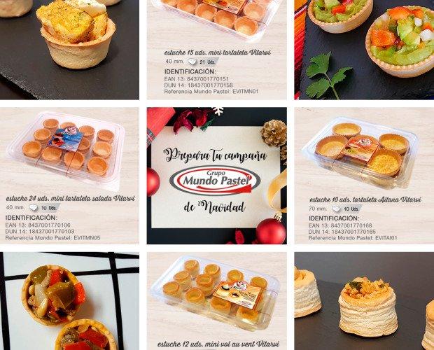 Bollería artesanal.Vol-au-vent, mini tartaletas, tartaletas Aitana... mil ideas para Navidad.