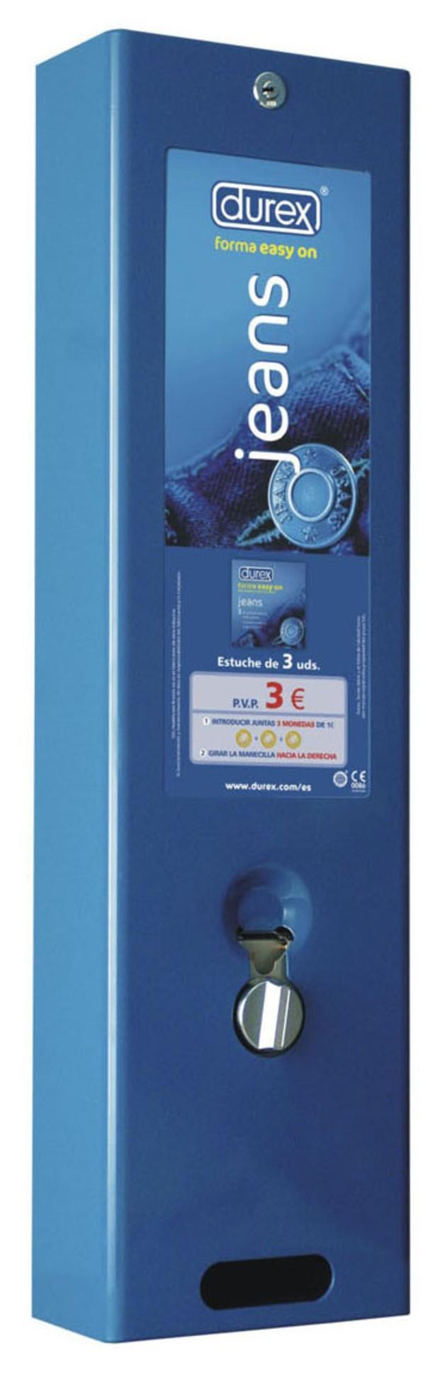 Máquina preservativo. Máquina de preservativos Durex