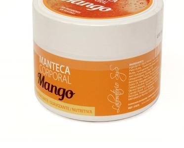 Manteca corporal de mango. Aconsejable para tratamientos de erupciones cutáneas y antiarrugas