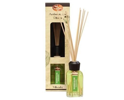 Ambientador de aloe vera. Las varillas de ratán que incluye propagan el aroma por todo el hogar.
