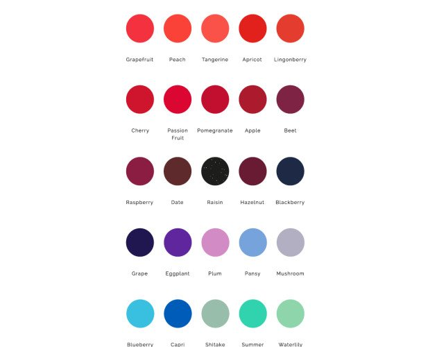 Paleta de colores. Nuestra gama de colores incluye 43 tonalidades de moda. Ademas, con un amplia gama de tratamientos para todo tipo de uñas. Libre de tóxicos.
