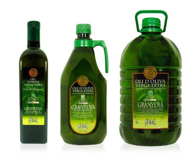 AOVE distintas presentaciones. Aceite de oliva virgen extra convencional