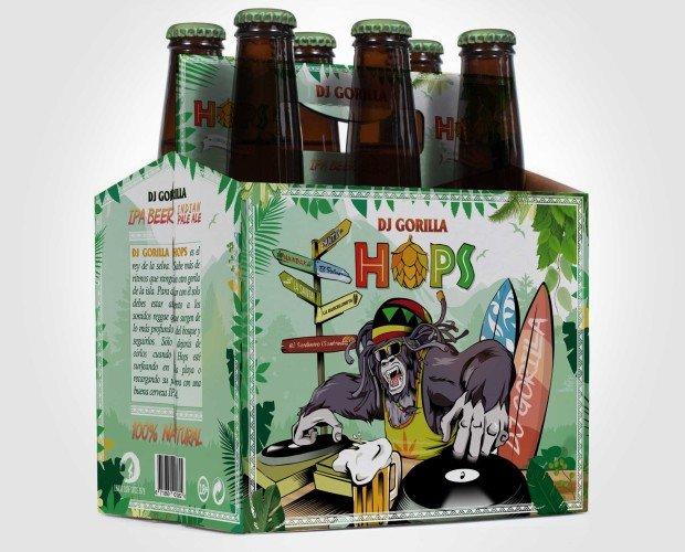 Pack 6 botellas Hops. Aromas florales, fácil de beber.