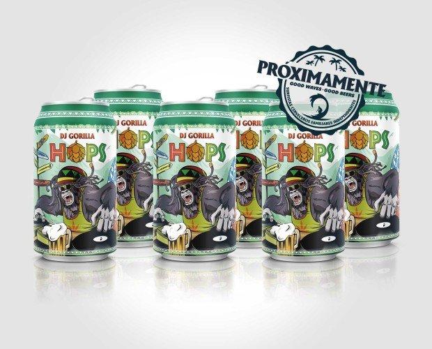 Pack 6 latas Hops. Sabor artesanal delicado.