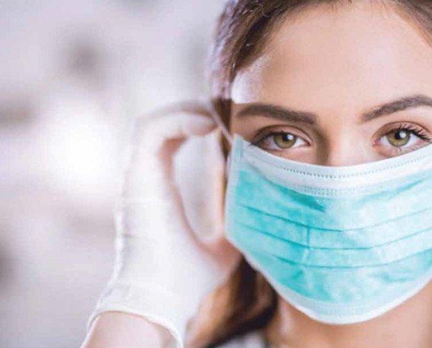 Mascarillas Desechables.Filtración estática de alto nivel de 3 Ply Bloquea micro polvo y bacterias y gérmenes