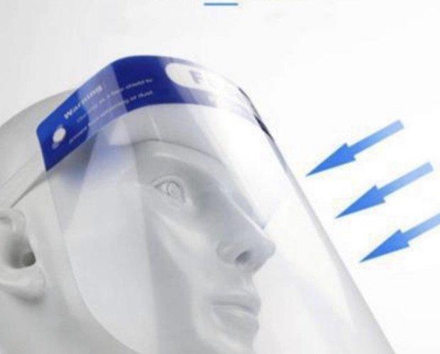 Pantallas Faciales Protectoras.Material PET Tamaño: 33 x 22cm Esponja de alta densidad HD antivaho Efecto positivo Alta transmisión de luz