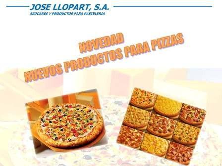 Línea Pizza. Toda clase de productos para elaboración de Pizzas