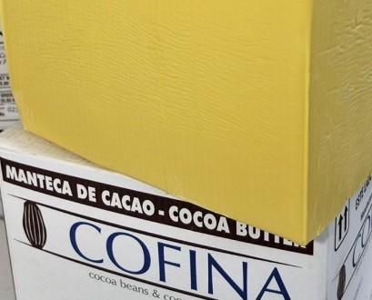 Manteca de Cacao. Fino de aroma criollo. Caja de 25 kg Ecu - Ven