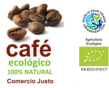 Café Orgánico. 1 kg café tostado en grano 100% arabica Orgánico