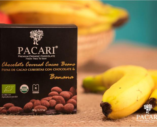 Banana beans. Pack de 6 Unidades. Pepas de cacao rellenas