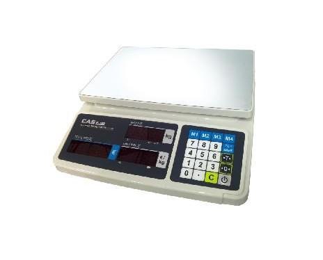 Balanza Comercial. Con teclado plano y capacidad de 6/15 kg.