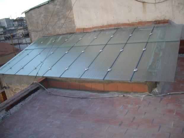 Claraboya. Renovación de claraboya en comunidad de vecinos