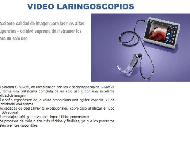 Dispositivos Médicos.Video laringoscopio con una excelente calidad de imagen....