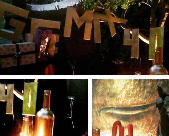 Decoración de Eventos.Algunos detalles, fiesta de 40 cumplaños.