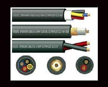 Cables para altavoz. Cables de distintos calibres