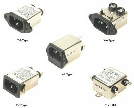 Filtros EMI / RFI. Con conectores IEC