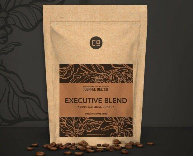 Executive Blend. Blend de granos de altísima calidad, con tueste 100% natural. Idóneo para espresso.