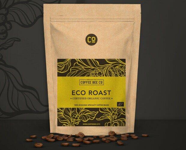 Eco Roast. Elaboración 100% orgánica certificada. Trato justo del cafetal a la taza.