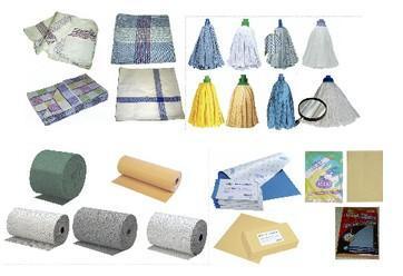 Artículos de limpieza. Cepillos, trapos, bayetas, fregonas