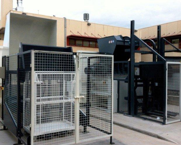 Gestión de Residuos.Trituración y prensado de residuos sanitarios