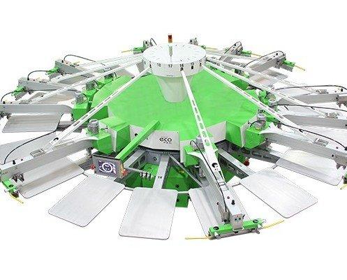 Roqprint Eco. Impresora automática de alto rendimiento para producciones industriales medianas.