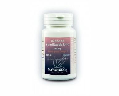 Aceite de semillas de Lino 1000 mg. Excelente alternativa a los aceites de pescado