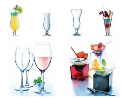 Cristalerias. Vasos Altos, Vasos Bajos, Copas de vino, Copas Flauta, Combinados