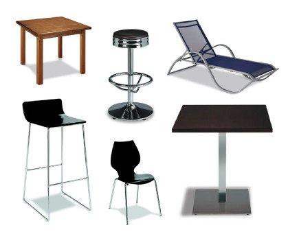 Mobiliario. Muebles Cuberteros, Muebles Auxiliares, Taburetes, Mesas, Sillas