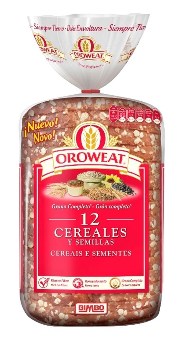 Oroweat 12 cereales. Oroweat una mezcla exclusiva de cereales y semillas