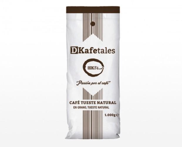 Café de tueste natural. Café en grano de 1 Kg.