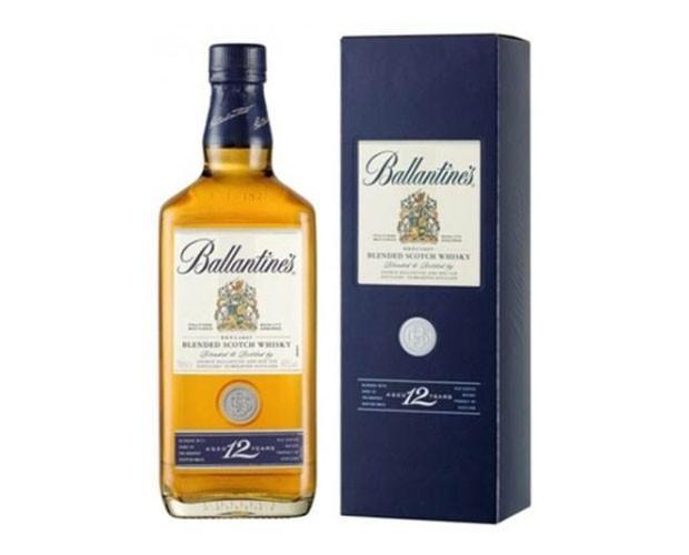 Whisky Ballantines 12 años. Botella de 0.7 litros