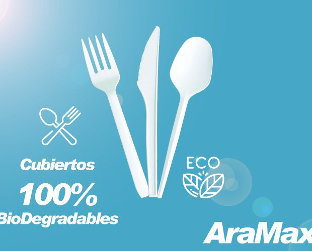 Cubiertos. 100% biodegradables