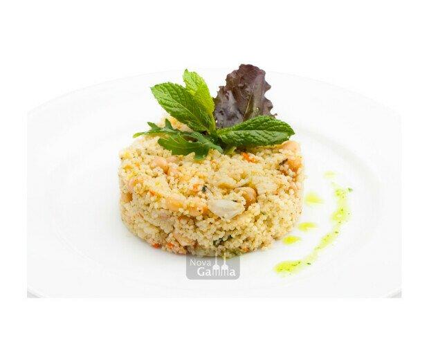 CousCous de Bulgur. El Couscous es un plato tradicional de origen árabe