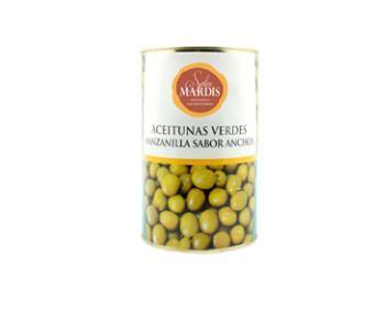 Aceitunas Gourmet.Aceitunas manzanilla sabor anchoas