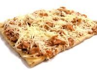 Pizza cuadrada de bacon