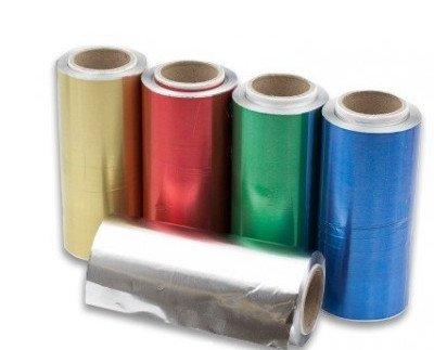 Papel de aluminio profesional. Aluminio verde para peluquerías