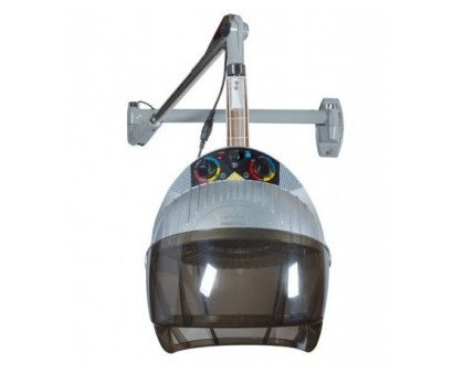 Secador de casco aéreo. Incluye brazo para poder colocar en cualquier posición de la peluquería
