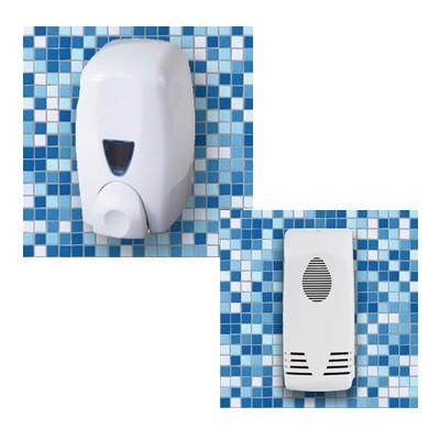 Dispensador-Ambientador. Dispensadores de jabón y ambientadores