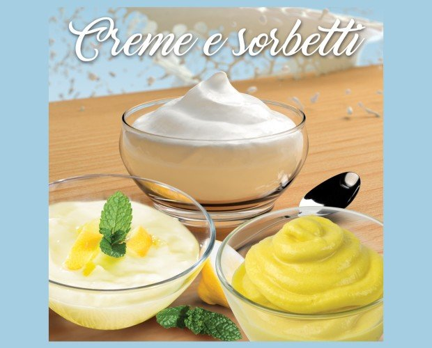 Crema y sorbete. Crema deliciosa