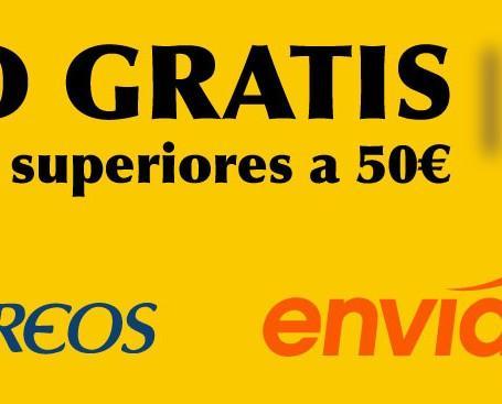 Envíos gratis. Envíos gratis con compras superiores a 50€