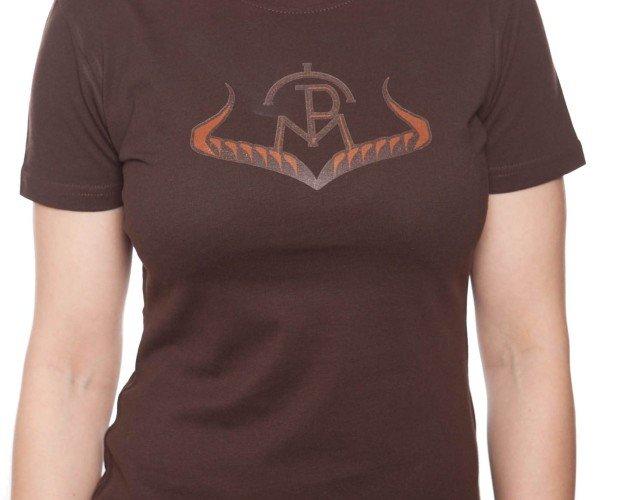 Camiseta Logo Marrón. Logo liso, manga corta.