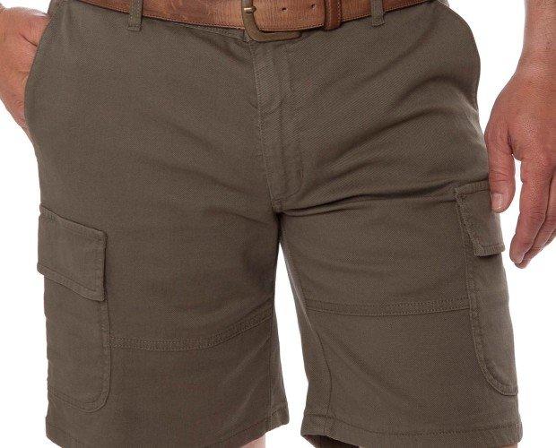 Pantalones Cortos de Hombre.Bolsillos de plastón laterales