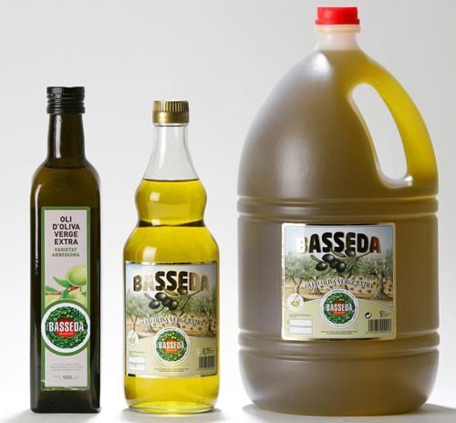 Aceite de Oliva. Varios tipos, ideales para cualquier comida.