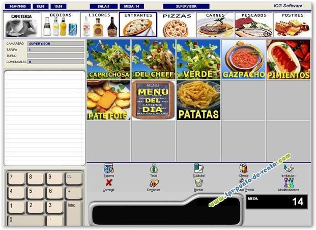Software para TPV. Software para TPV para hostelería