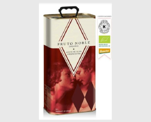 Aceite de Oliva Ecológico.AOVE en formato de lata de 5 litros